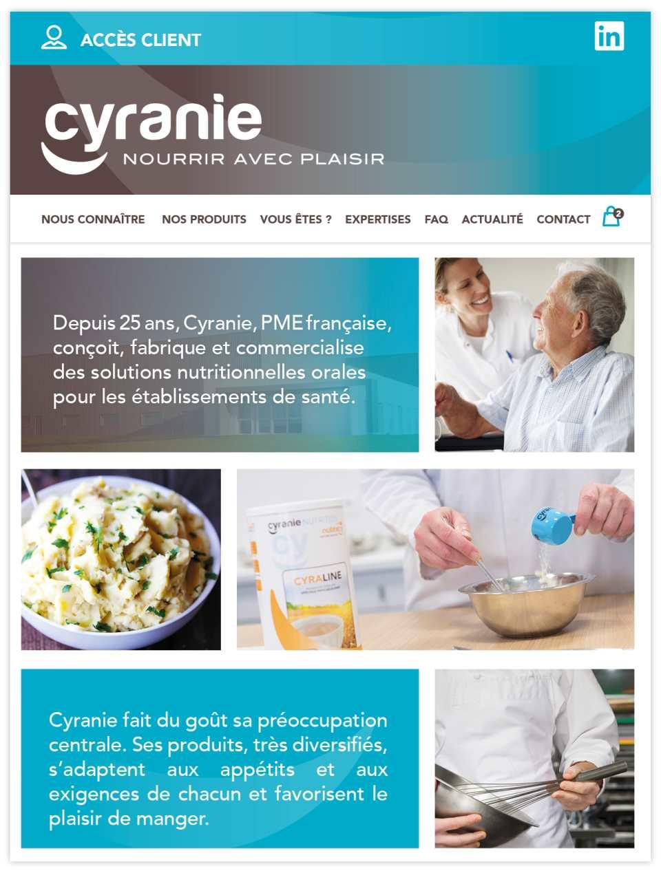 Nouveau-site-pour-Cyranie UNE REFONTE E-DEVIS POUR LA NUTRITION - iStudio - Agence Web 360° à Cholet